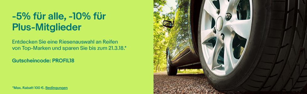 -5% bzw -10% auf Reifen bei Ebay