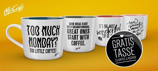 Mc Donalds GRATIS Tasse beim Kauf von Kaffee und Kuchen