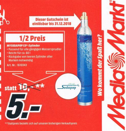 [MediaMarkt Spittal] MySodaPop CO2 Zylinder im Austausch für alle Marken