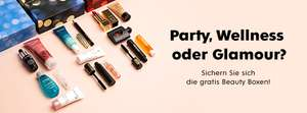 GRATIS Party, Wellness oder Glamour Box ab 80€ MBW