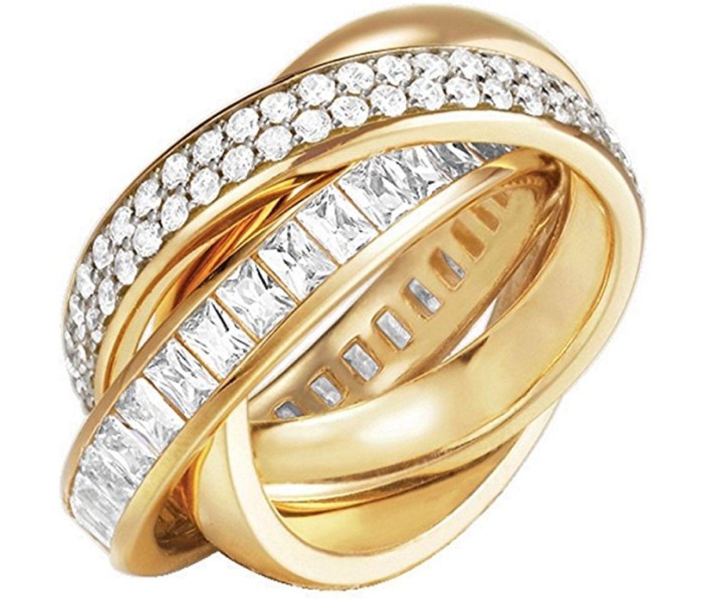 Glamour Teilvergoldete Damen-Ring