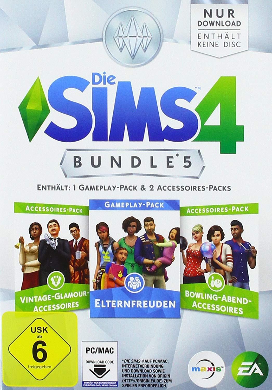 Sims 4 Bundle Pack 5: Elternfreuden, Bowling-Spaß und Vintage Glamour  Bundle Pack 5: Fitness-Acc., Dschungel-Abenteuer und Kleinkind-Acc.