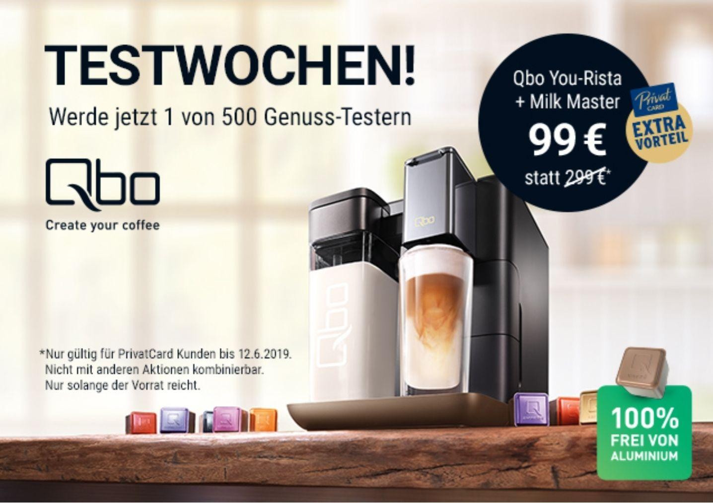 Tchibo Qbo You-Rista + Milk Master (ACHTUNG: nur für Privat Card Inhaber)