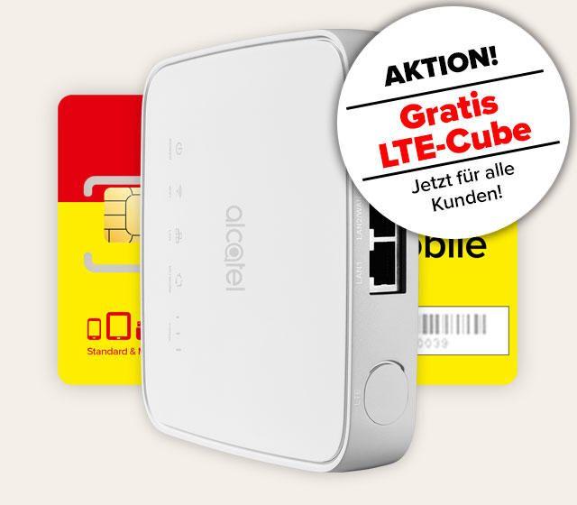 Komplettpaket mit LTE-Cube und Daten Tarif Unlimited