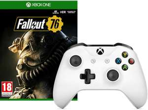 Xbox One Wireless Controller weiß + Fallout 76