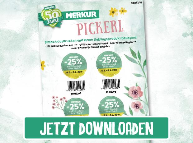 Endlich: Merkur Markt Pickerl downloaden und ausdrucken