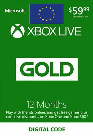 Xbox Live Gold 12 Monate 34,44€