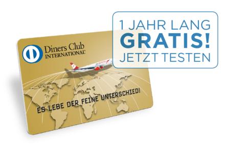 Diners Club Gold Card Kreditkarte kostenlos für 1 Jahr