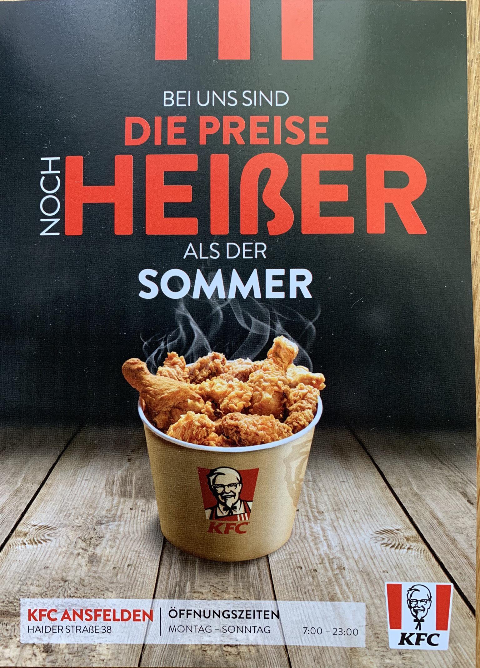 [KFC] Gutscheine für Ansfelden