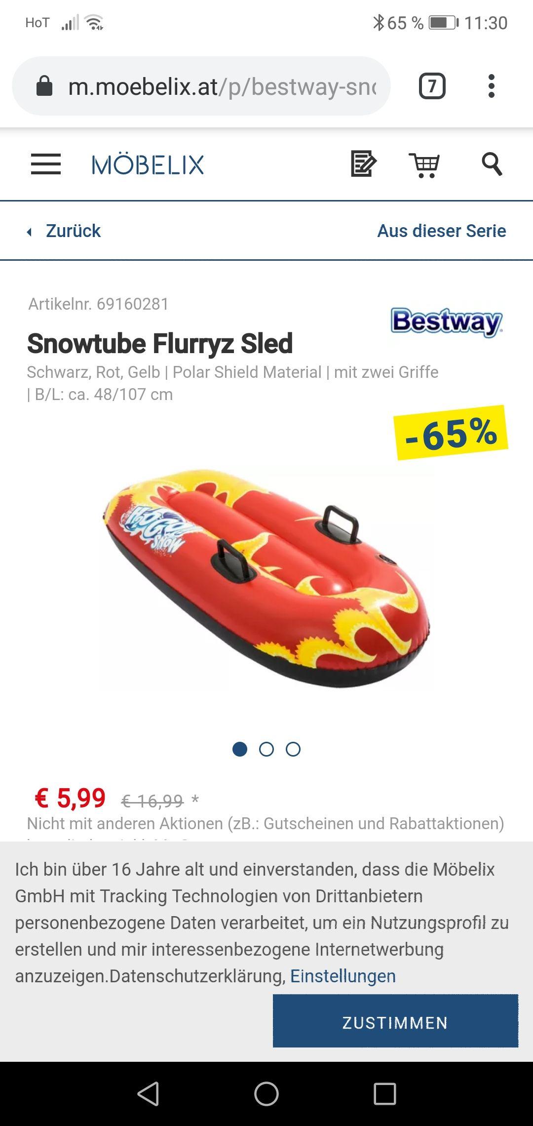 Möbelix snow tube Schlitten zum Bestpreis