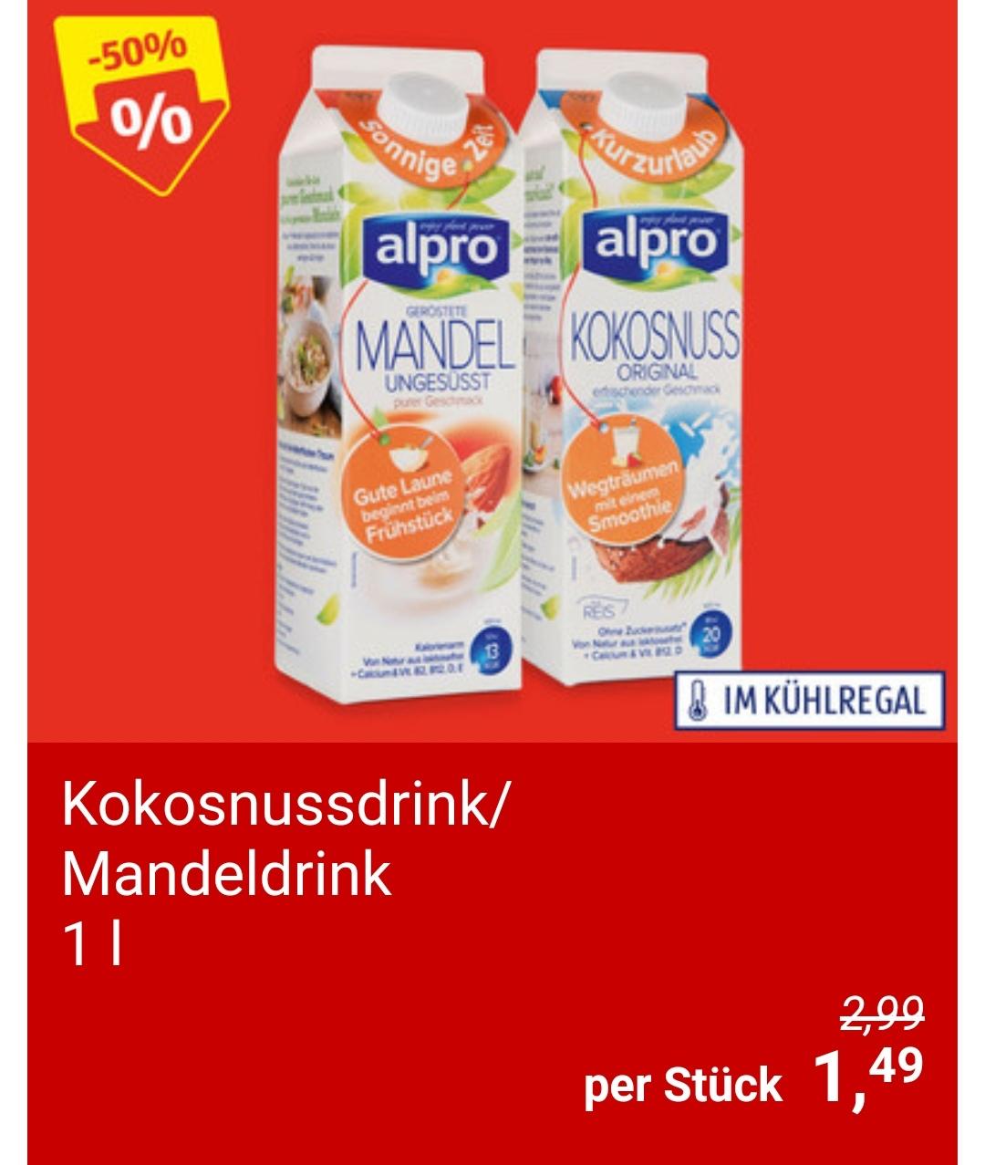 [Hofer] Alpro Kokos- und Mandeldrink um € 1,49