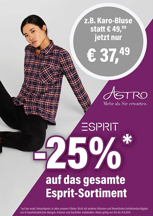 [Astro] -25% auf Esprit-Sortiment
