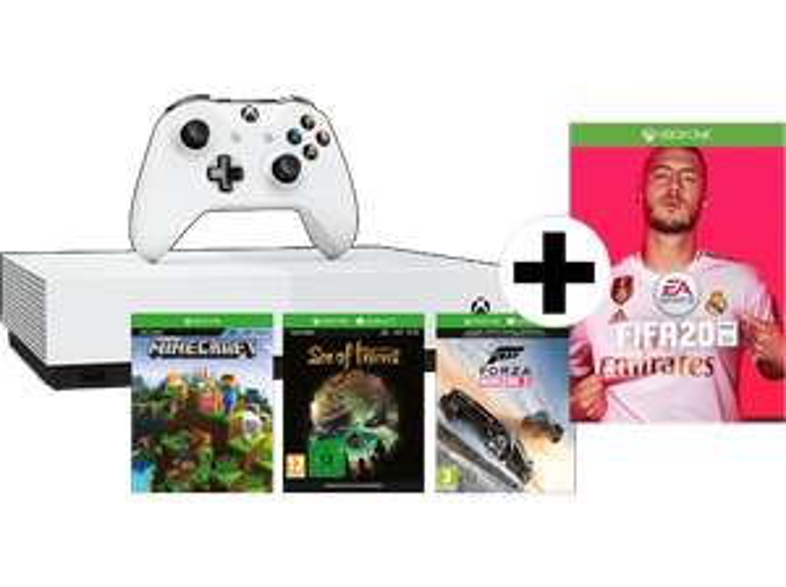 [MediaMarkt/MicrosoftDE] Xbox One S All-Digital Edition mit 4 Spielen (FIFA 20 oder Borderlands 3 ist auch dabei)