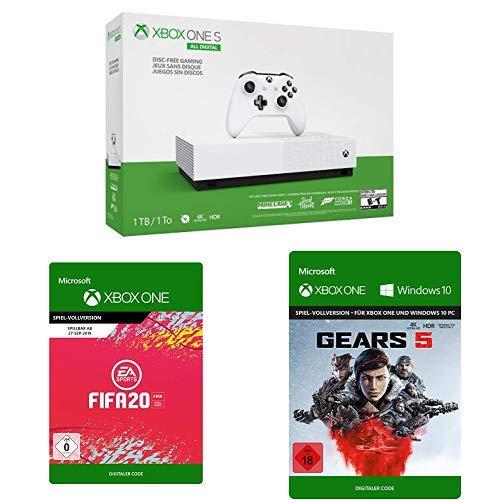 Microsoft Xbox One S 1TB - All Digital Edition + 5 Spiele (FIFA 20/Gears5/SoT/FH3/MC)