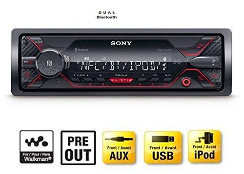 Sony DSX-A410BT MP3 Autoradio (Dual Bluetooth, NFC, USB, AUX Anschluss, Beleuchtung, 4 x 55 Watt, Freisprechen)