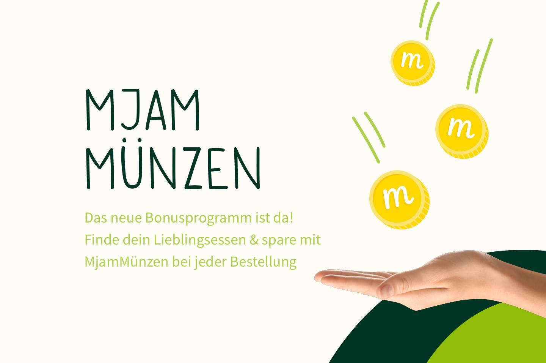 "Mjam - startet Cashback Programm ""Mjam Münzen"""