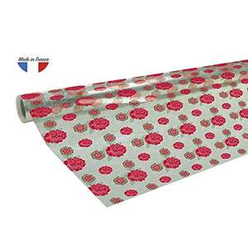 AMAZON.de l Clairefontaine Geschenkpapier Polyfine (50 Meter x 0,70m, 35µ ) 1 Rolle Rote Blumen