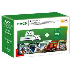 Xbox One S 1TB + 2 Controller + Red Dead Redemption 2 + GTA V + Gears 5 + Star Wars + Forza Horizon 4 uvm..