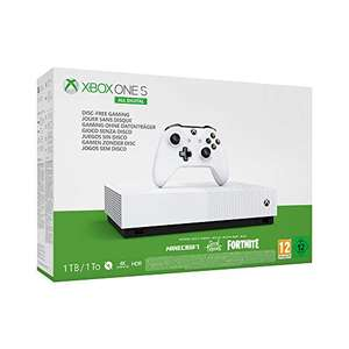 Microsoft Xbox One S All Digital (1TB) + Minecraft + Sea of Thieves + Fortnite
