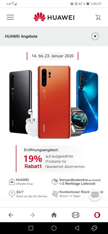 -19% Rabatt bei Huawei online shop