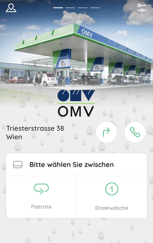 Gratis Auto waschen bei OMV Wien Triesterstraße