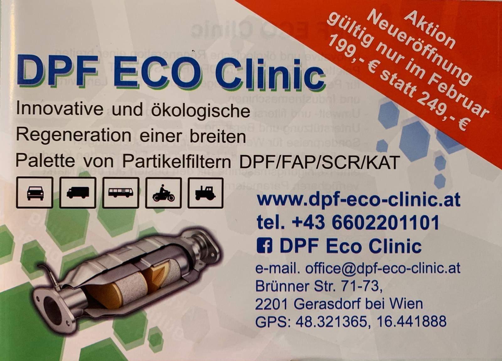 Eröffungsangebot: DPF Reinigung / Regeneration 199 statt 249 Euro