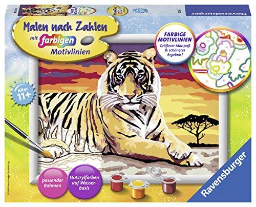 Preisjäger Junior: Ravensburger Malen nach Zahlen - Majestätischer Tiger