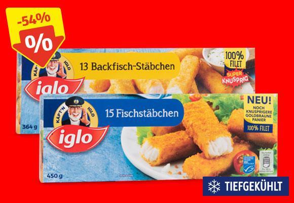 [Hofer] Iglo (Back)Fischstäbchen 1,99 Euro, Krustenbrot 1,09 Euro, Ananas 1,11 Euro uvm