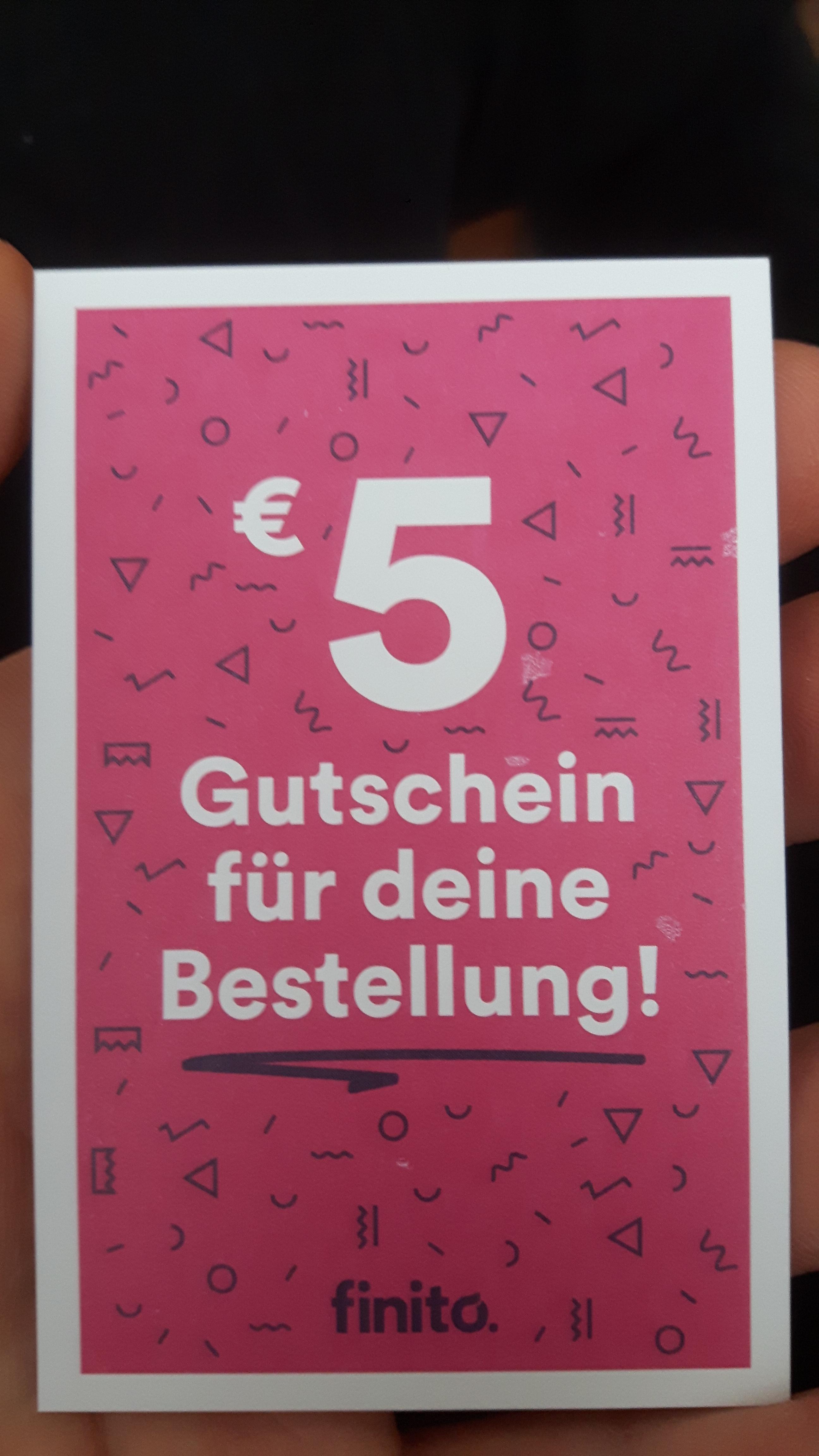 5€ Finito Gutschein für Hardcover