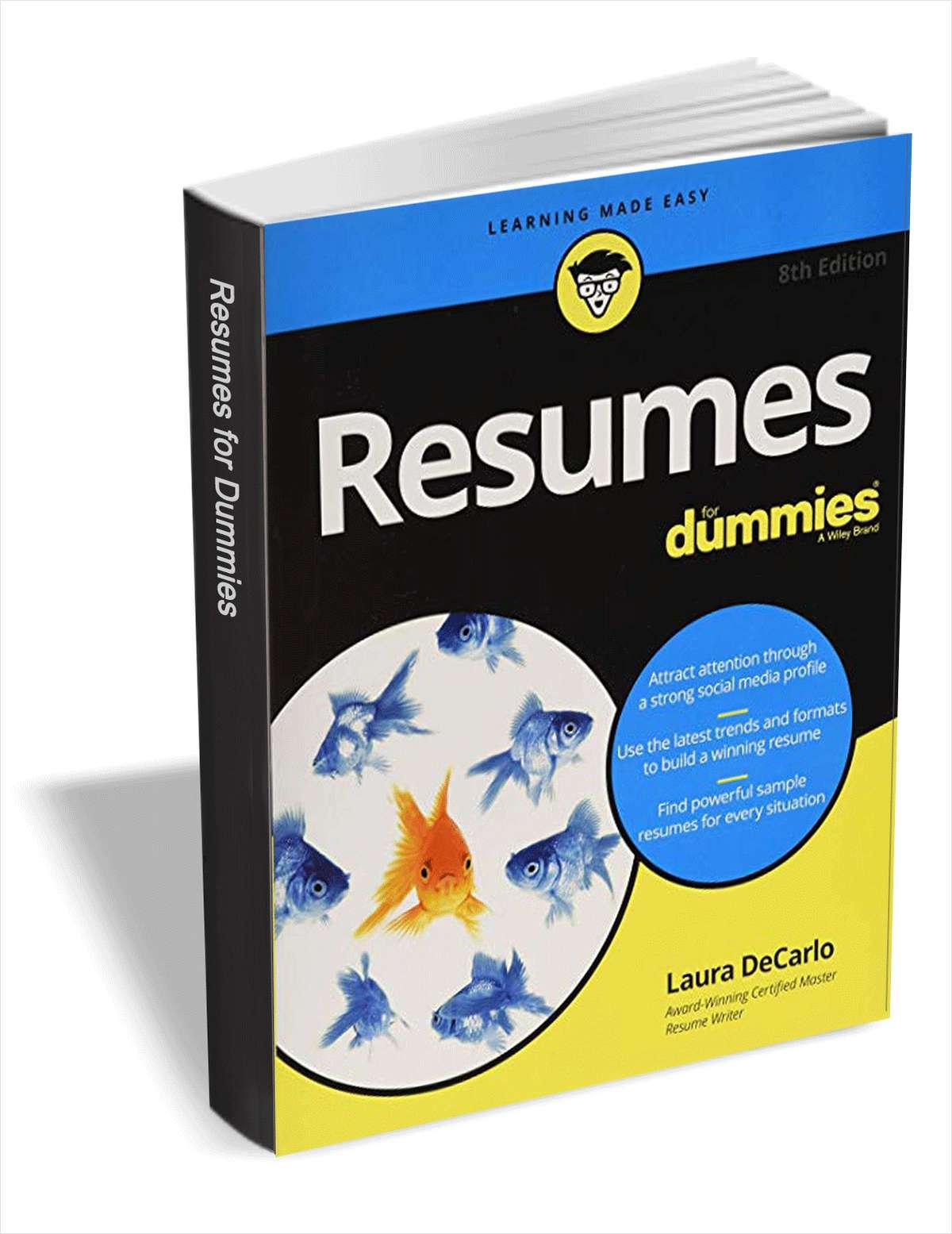 Resumes For Dummies kostenlos (eBook, Englisch)