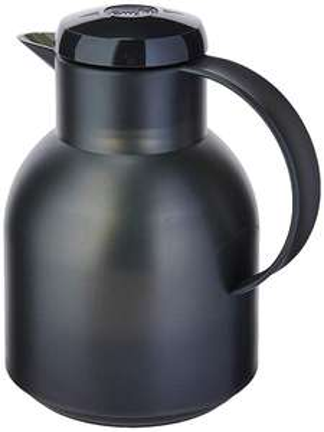 Emsa Samba Isolierkanne (1 Liter, Quick Press Verschluss, 12h heiß, 24h kalt)