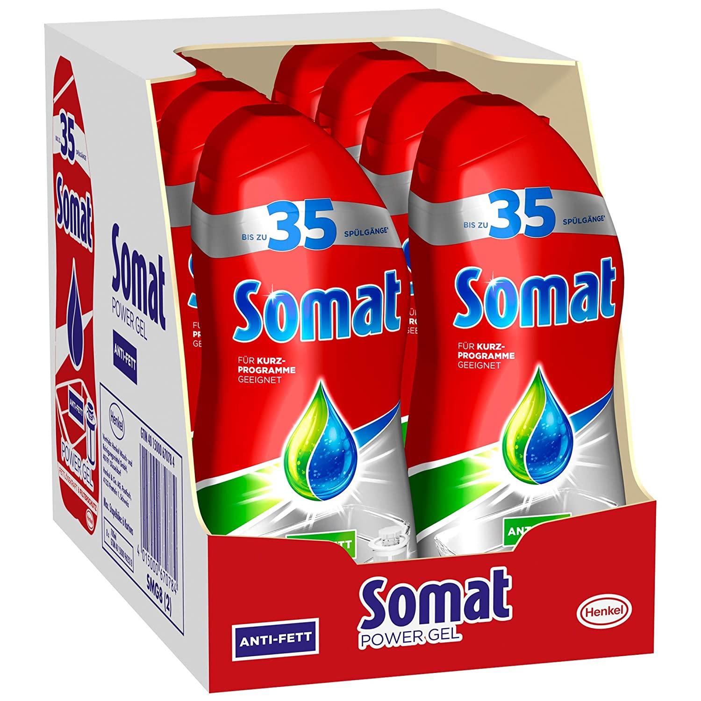 AMAZON.de l Somat Power Gel Geschirrspülmittel für die Spülmaschine 8x 700 ml = 5.6 Liter 24.84/27,76 Spar-Abo