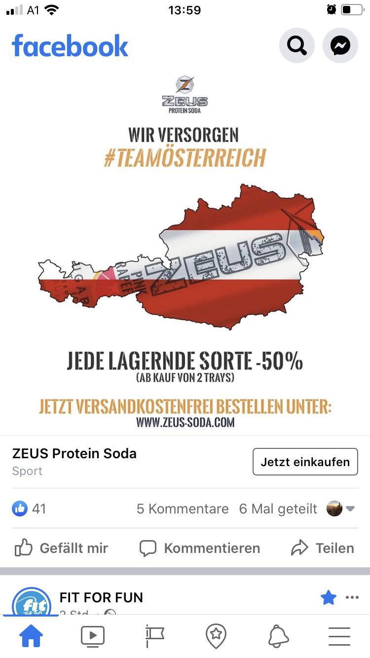 Zeus Aktion -50 % ab 2 Trays und Versandkostenfrei bestellen + 10% Gutschein