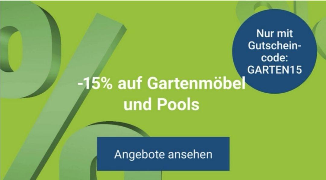 15% auf alle Pools und Gartenmöbel bei MÖBELIX