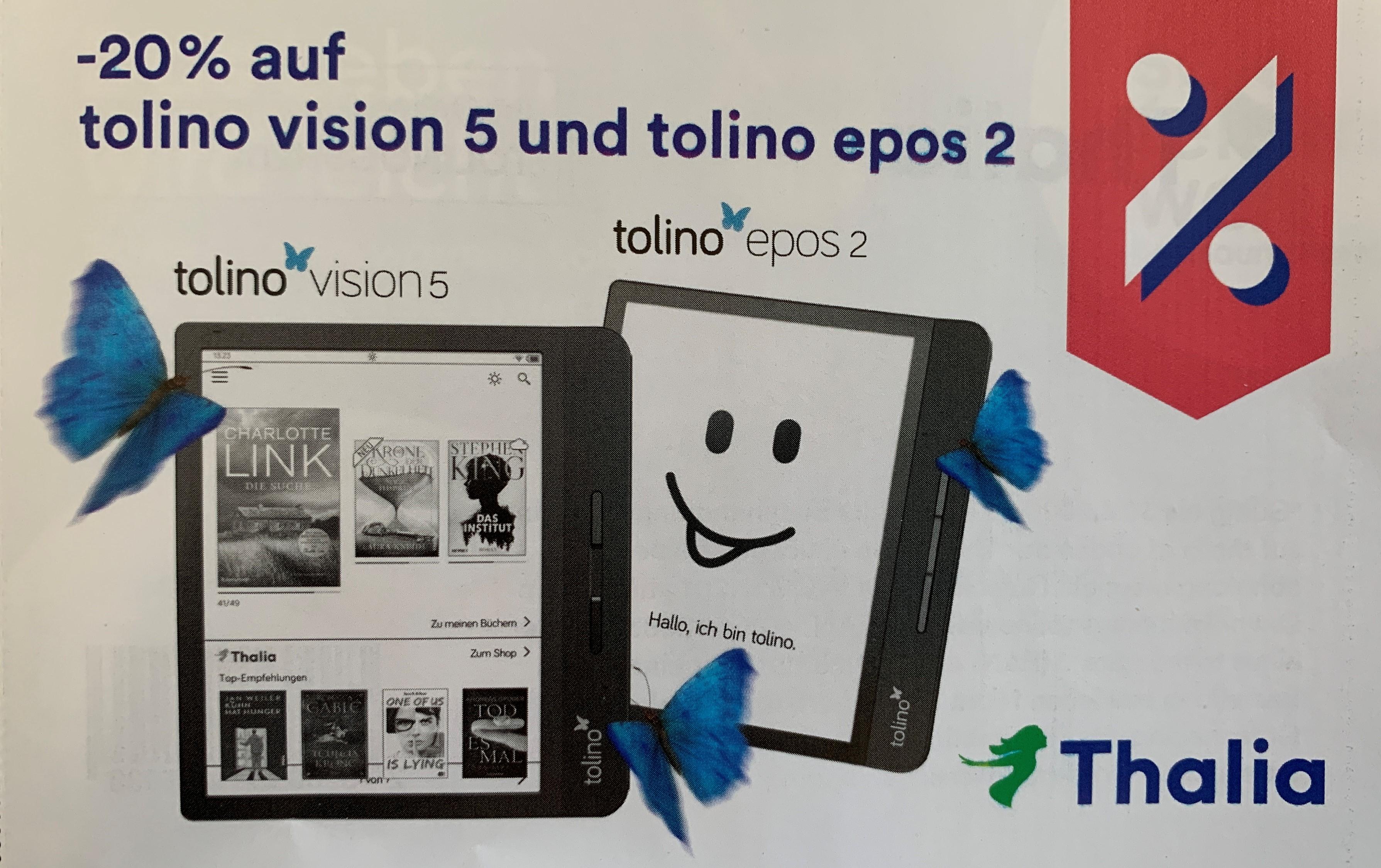 -20% auf tolino vision 5 und tolino epos 2