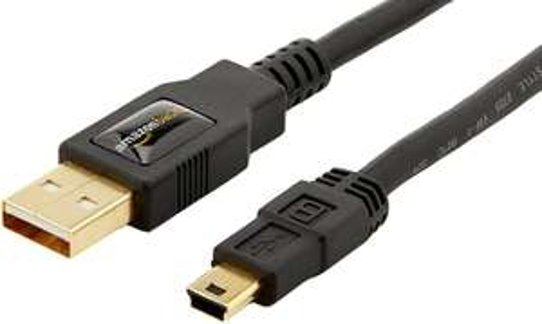 24x AmazonBasics USB 2.0 A-Stecker auf Mini-B-Stecker (1,8 m)