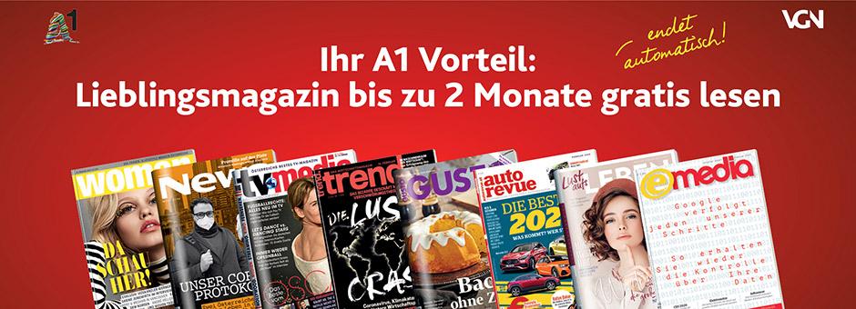Zeitschriften eMedia, Woman, Tv-Media, News oder Trend 2 Monate kostenlos testen, endet Automatisch