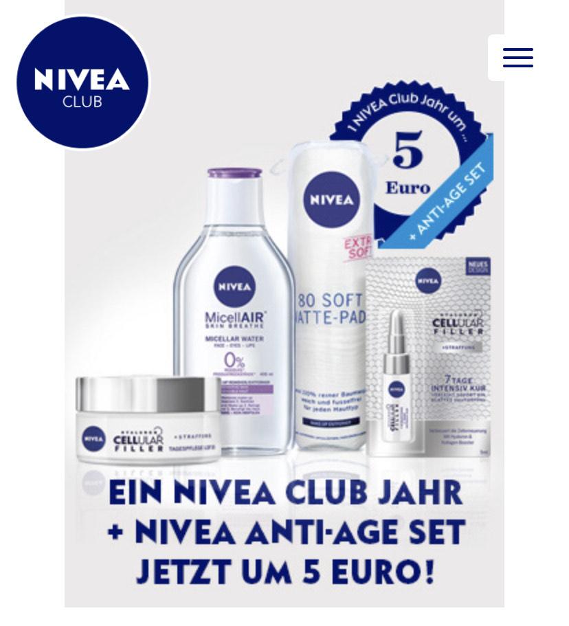 1 NIVEA Club Jahr + NIVEA Cellular Set um € 5,-