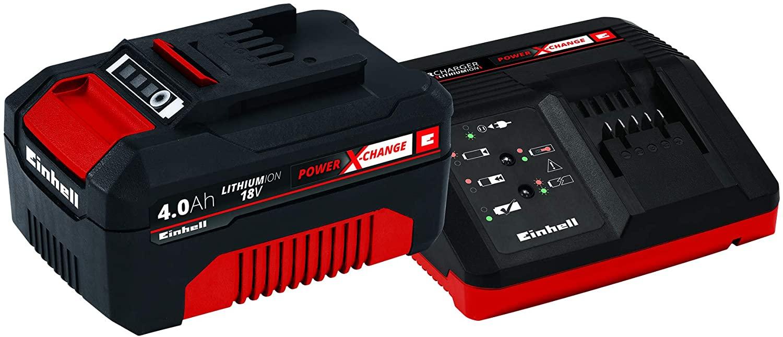 Einhell Starter Kit Power X-Change Lithium Ionen, 18 V, 4,0 Ah Akku und Schnellladegerät