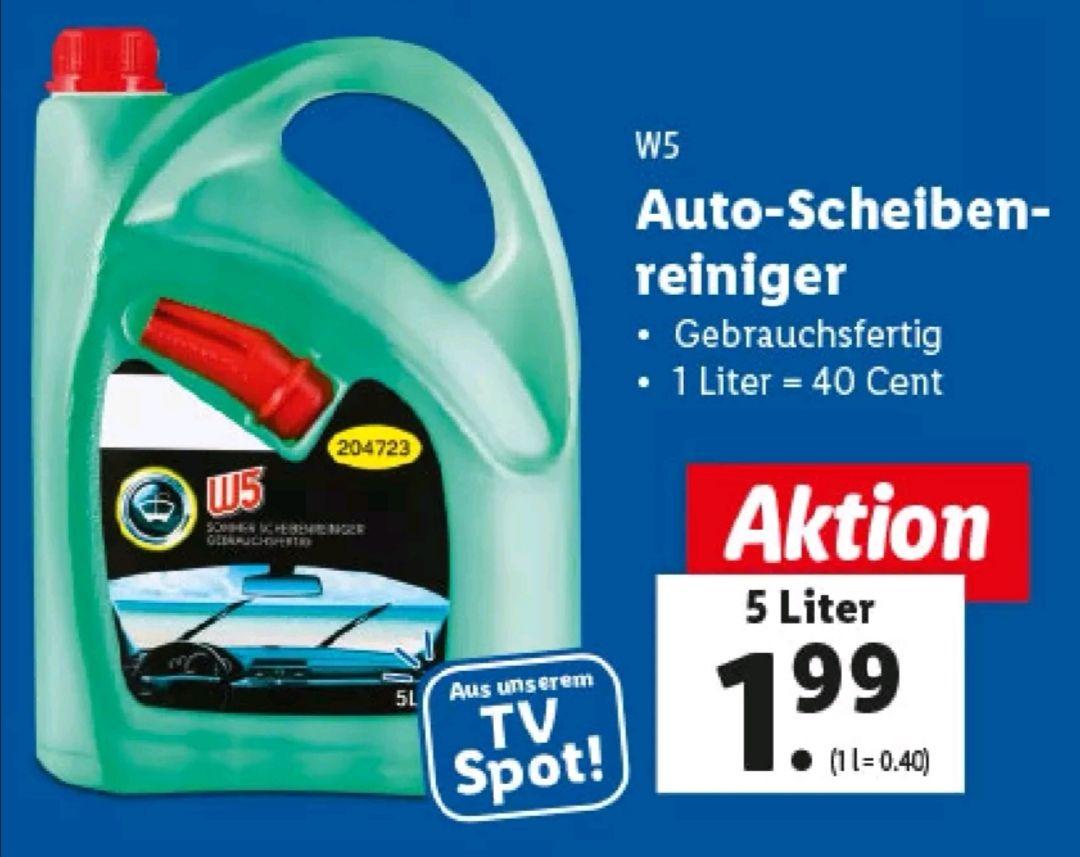 W5 Auto Scheibenreiniger 5 Liter Gebrauchsfertig