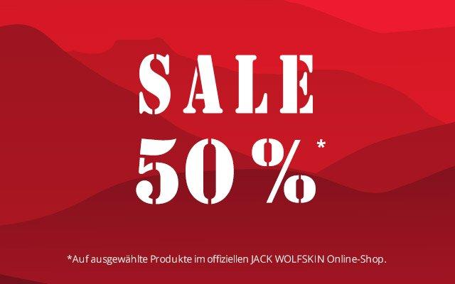 Jack Wolfskin: 50% Rabatt bei allen Sale-Artikel