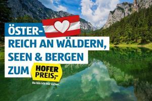 Hofer-Reisen - Österreich-Urlaub bis zu 33% rabattiert