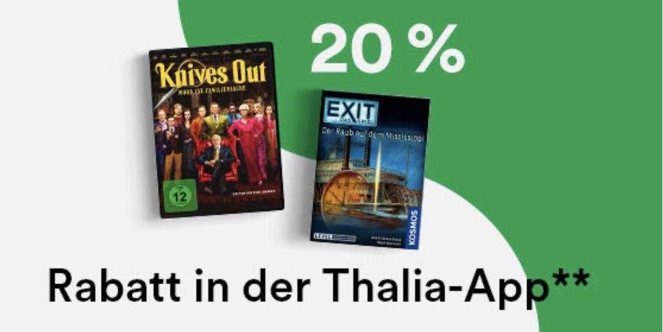 Thalia: 20% auf Spielwaren, Filme, Musik und Hörbücher. Nur in der App