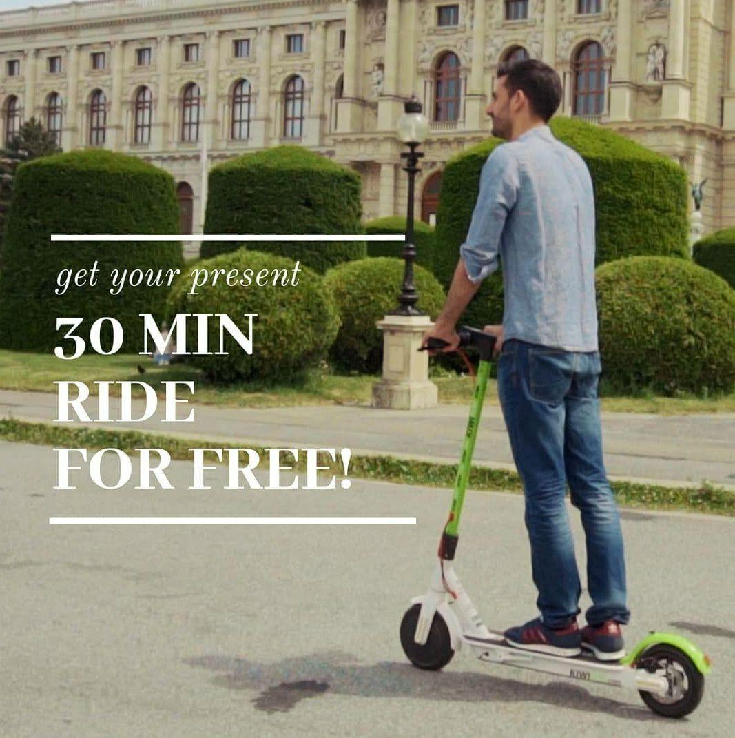 30 min KIWI scooter gratis