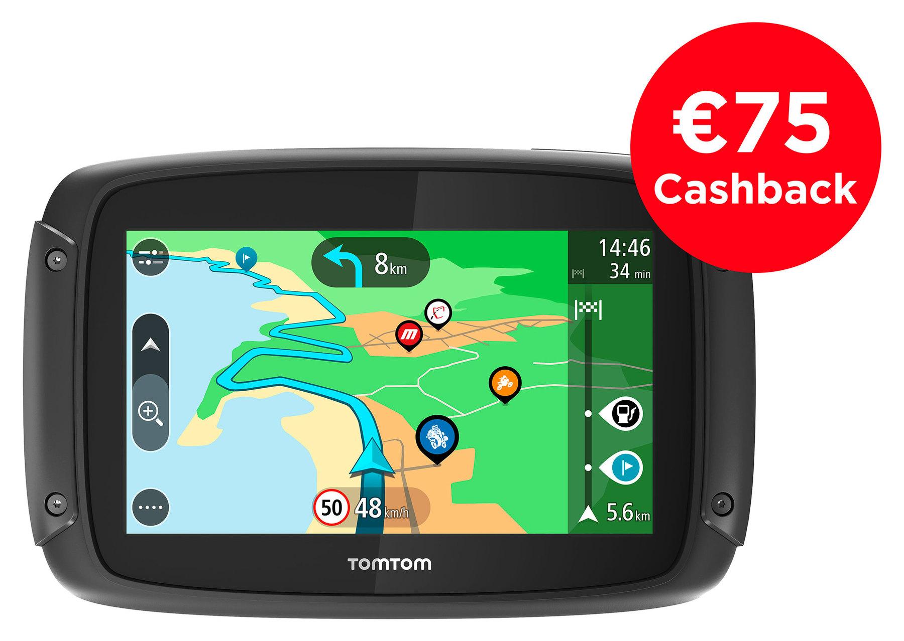 TomTom Cashback: TomTom Rider 550, Navigationssystem - Motorradnavigation