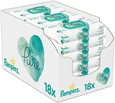 18x Pampers Aqua Pure Feuchttücher
