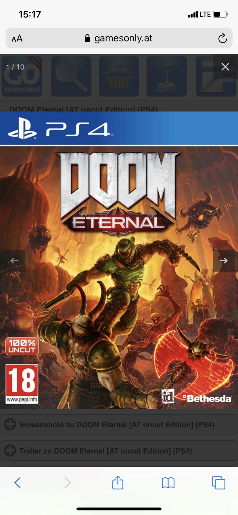 Games only hat tolle Deals z.b. Doom Eternal
