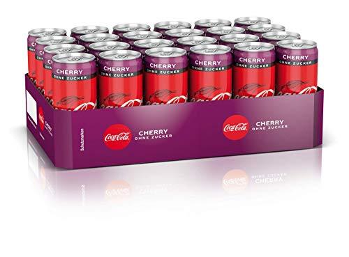 Coca-Cola Zero Sugar Cherry / 24 x 330 ml Einweg Dose