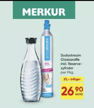 MERKUR Sodastream Tauschzylinder+Glaskaraffe