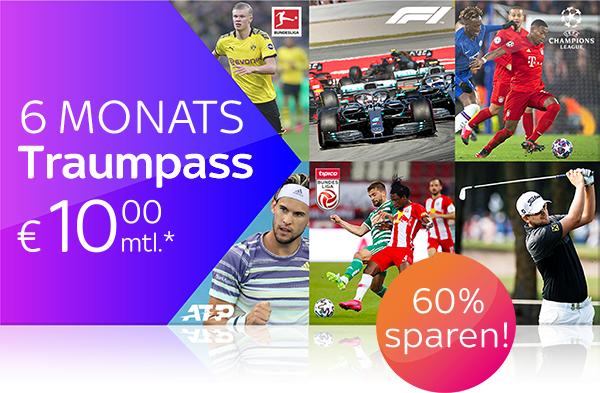 Sky X Traumpass 6 Monate Sport um nen €10er/Monat
